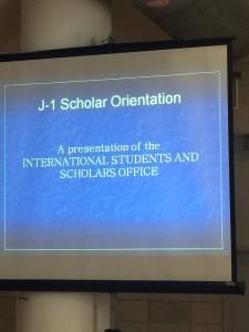 J-1 Orientation