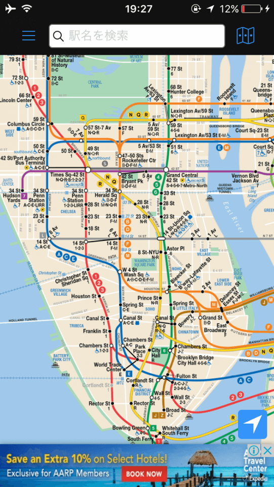 NYの地下鉄路線図